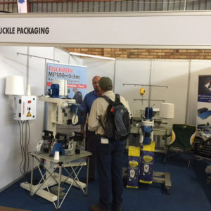 Concluding a deal on the stand at Nampo