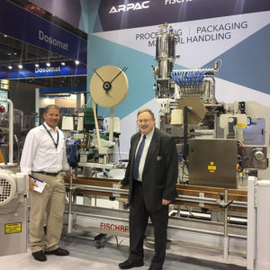 At Interpack 2017 in Germany with the state of the art Fischbein bag closing equipment